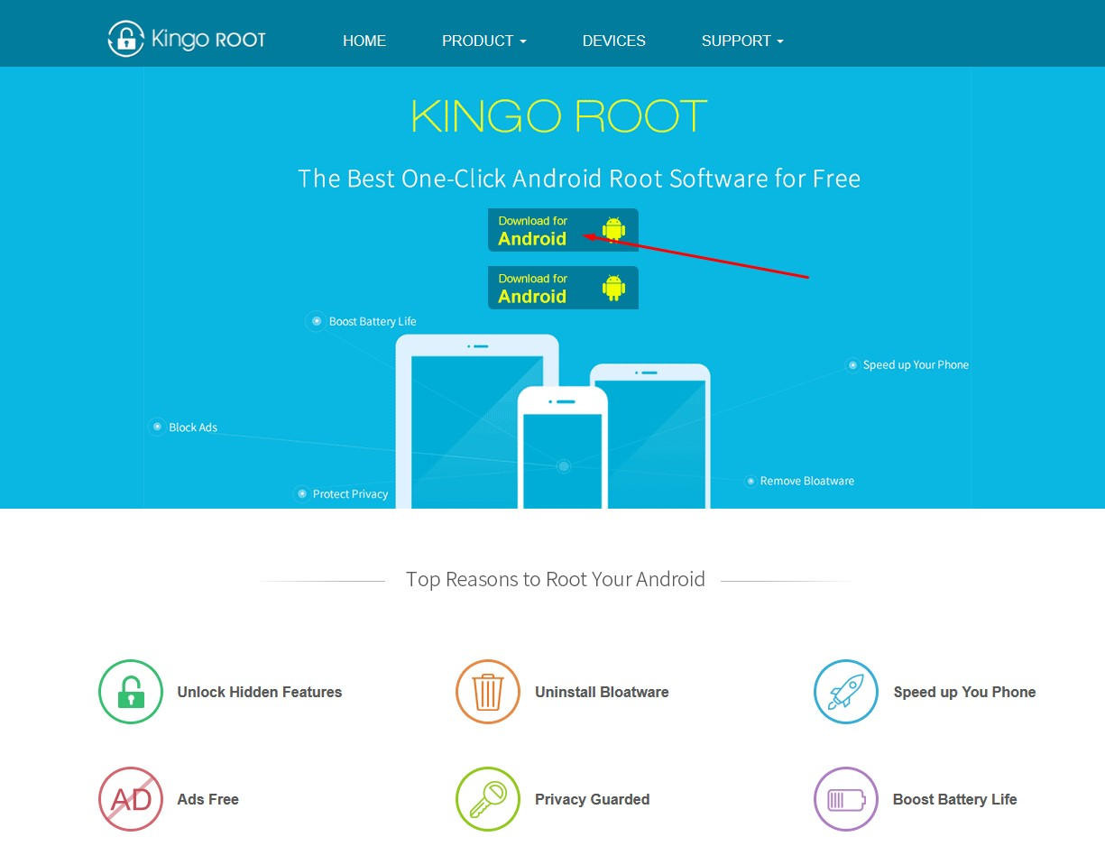 kingo root home